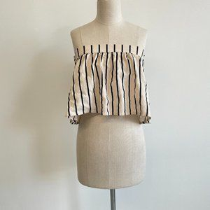 Suboo Striped Strapless Blouse Size 0